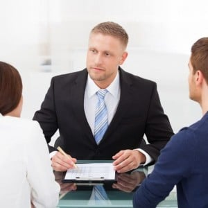 Image of lawyer with clients